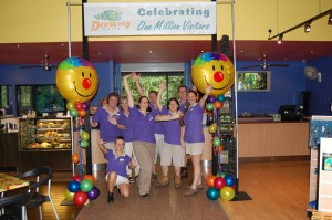 Daintree Rainforest Discovery Centre staff celebrating 1 million visitors